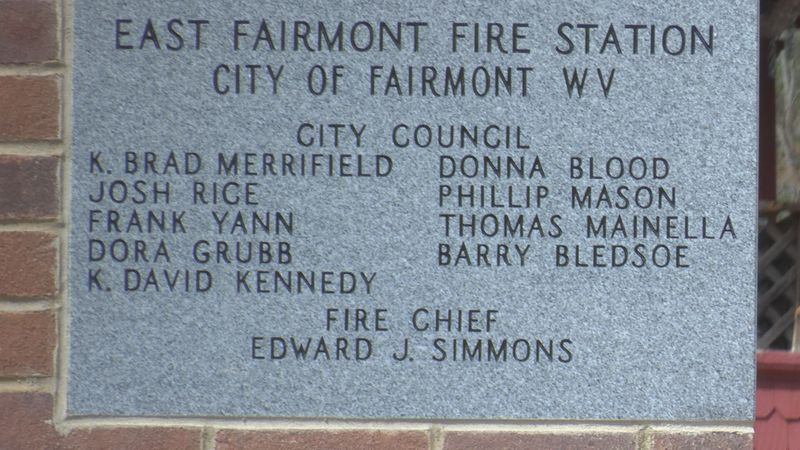 East side fire station plaque.