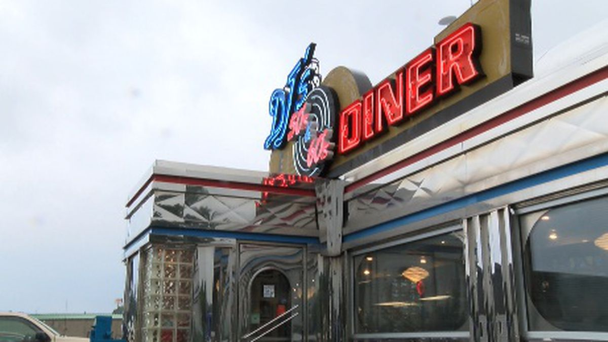 The walls of the diner are lined with memorabilia from the two decades.