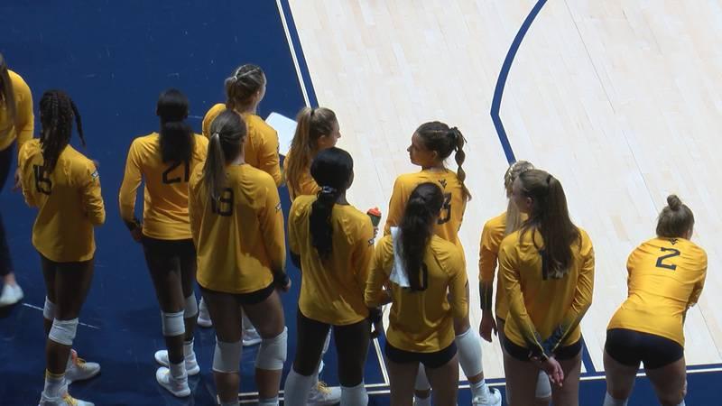 WVU Volleyball wins 3-1 over Oklahoma