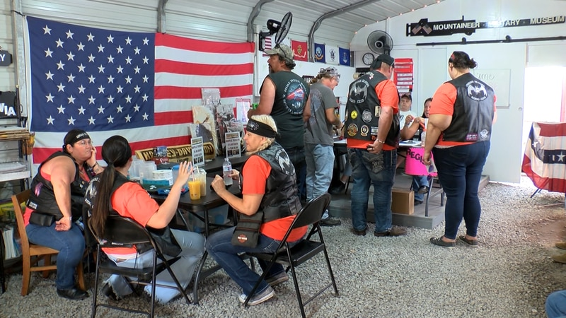 Bikers come together to support a local museum.