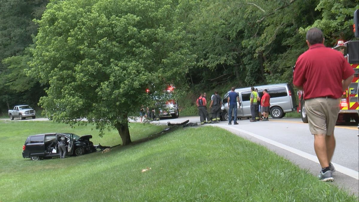 Three people transported to United Hospital Center after a two vehicle accident on Saltwell...