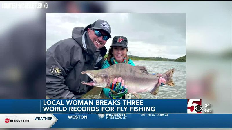 Local woman breaks three world records for Fly Fishing