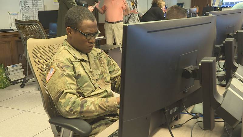 Wednesday afternoon, National Guard members began to meet with county emergency service...