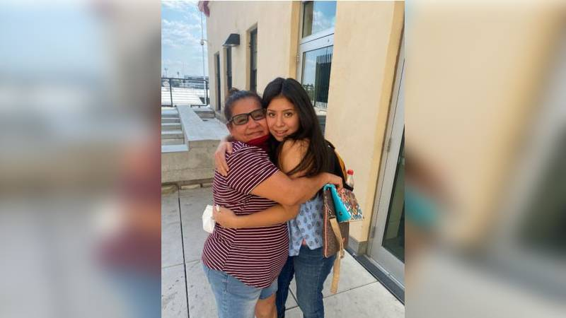Jacqueline Hernandez hugged her mother for the first time in 14 years.
