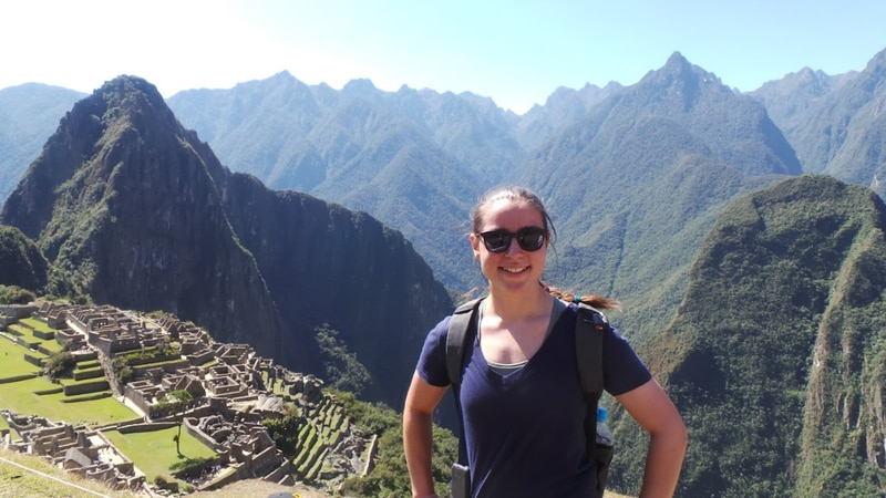 Scholarship winner on trip that inspired her to apply.