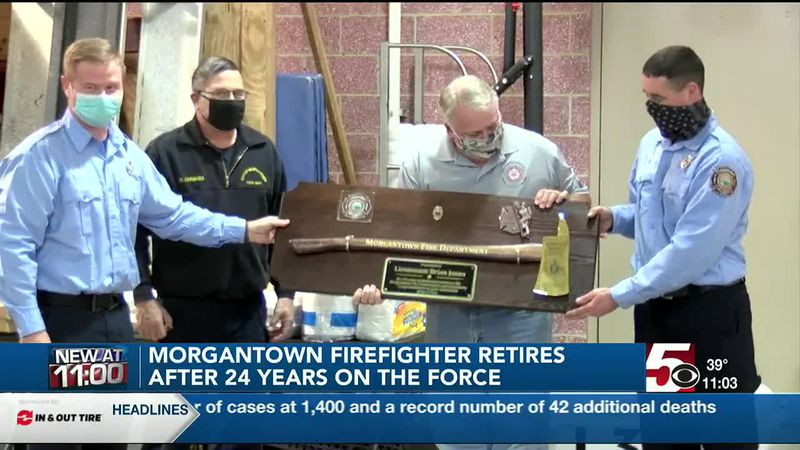 Firefighter retires after 24 years of service