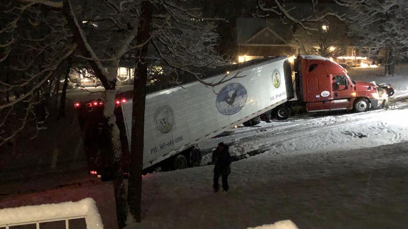 Trucks causing damage in neighborhood