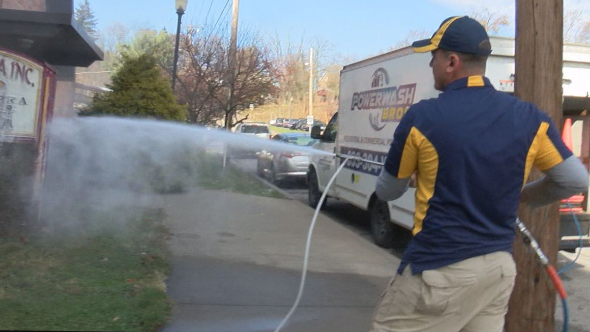 A man from Fairmont is donating the services provided by his power washing business to clean up...