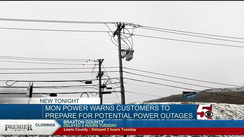 Mon Power warns customers to prepare for potential outages
