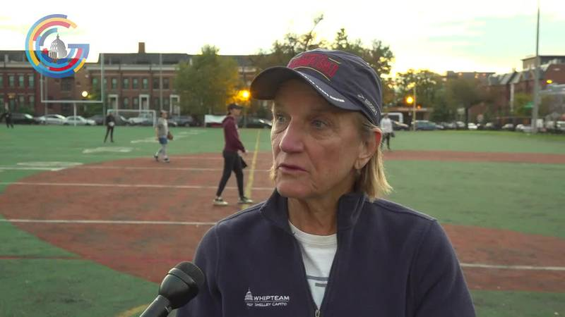Sen. Shelley Moore Capito (R-WV) in congressional women's softball game