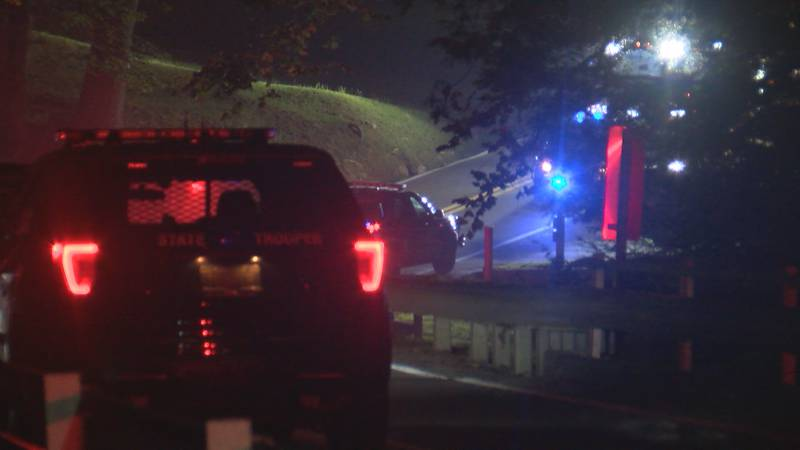 Many agencies were on scene after a shooting at Audra State Park.