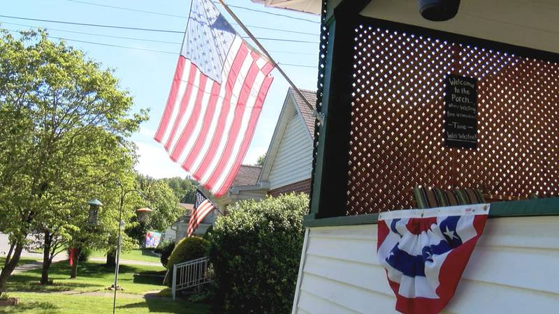 A patriotic Buckhannon home.