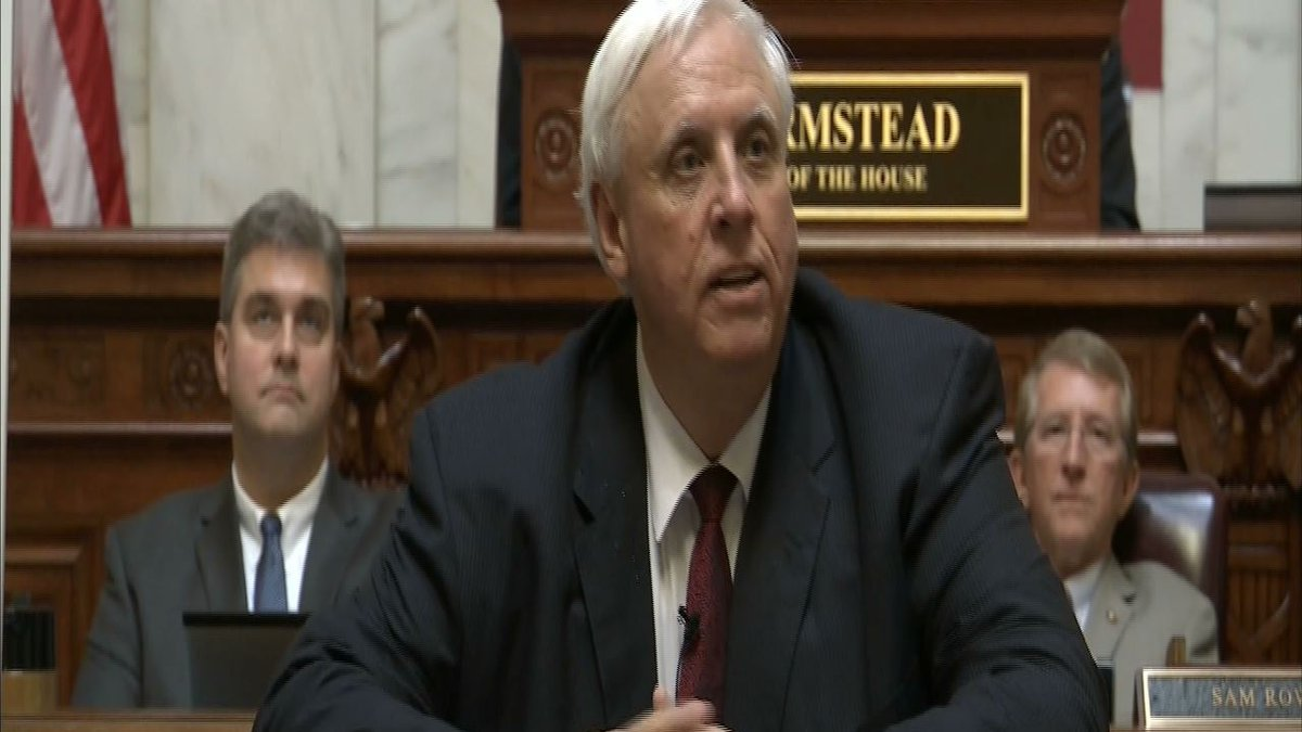 Governor Jim Justice addresses budget deficit, education and tourism during 2017 State of the...