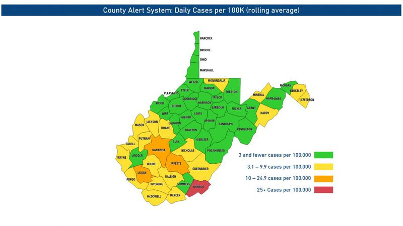 Kanawha, Fayette, Logan and Monroe counties can't play football this week.