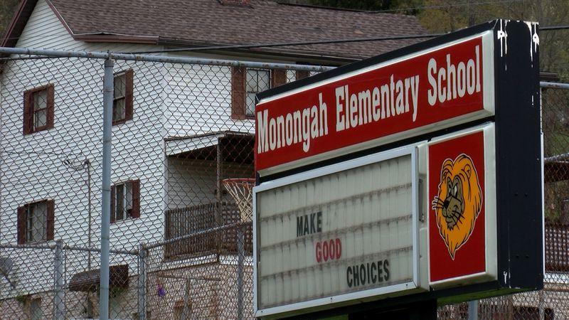 Monongah Elementary School had power restored just before 4 p.m. Thursday.