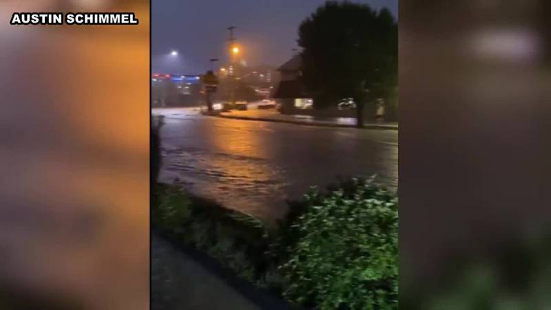 Flooding on Patteson Drive in Morgantown