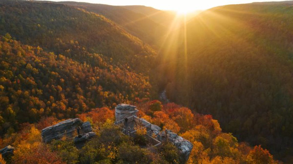 Fall foliage in West Virginia from WV Tourism.