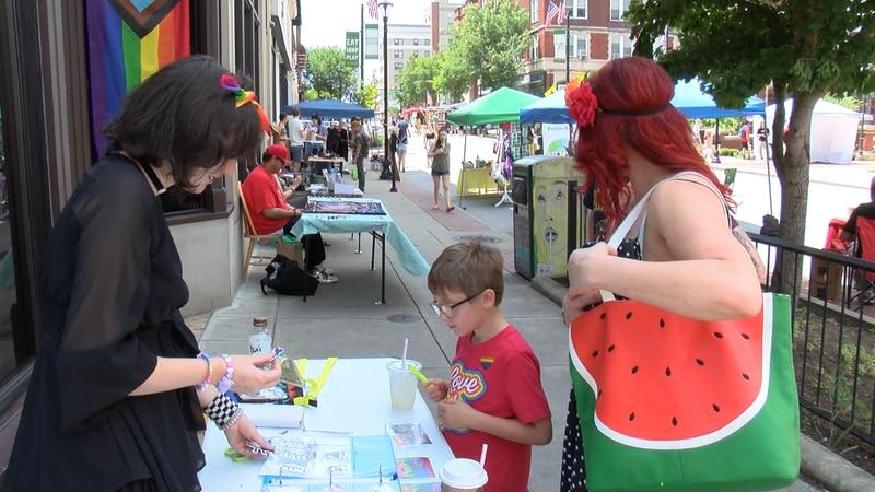 Local vendors support Pride Month.