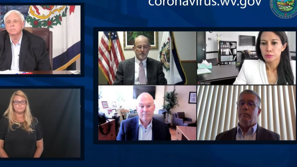 West Virginia leaders give an update on the state's response to the COVID-19 pandemic.