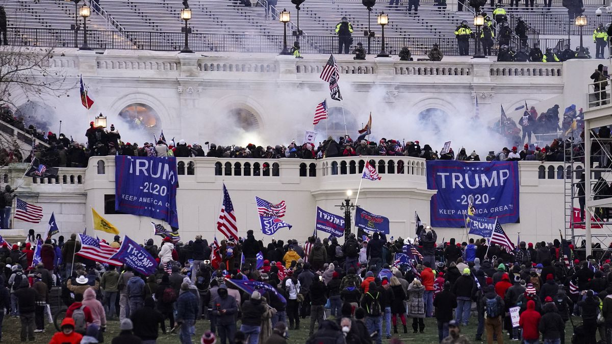 FILE - In this Wednesday, Jan. 6, 2021, file photo, violent rioters storm the Capitol, in...