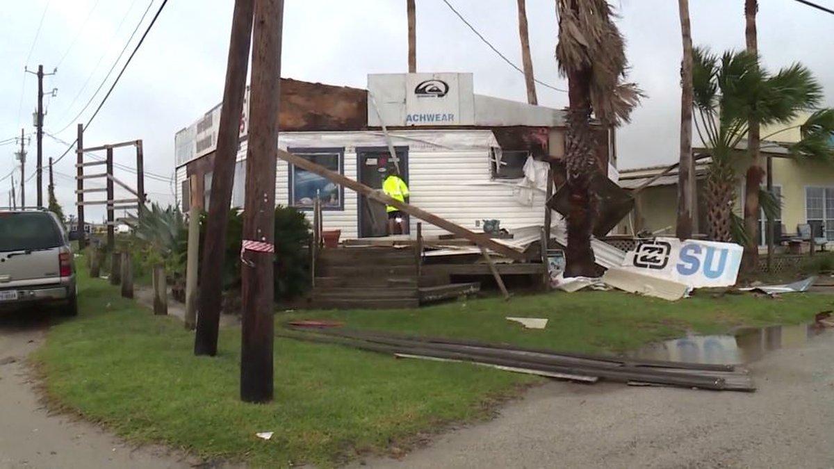 Nicholas made landfall as a hurricane early Tuesday on the Texas coast, dumping heavy rain and...
