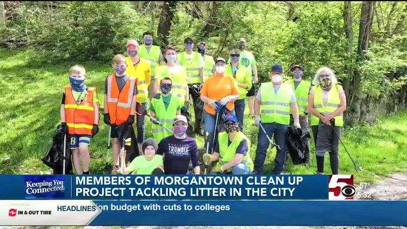 Morgantown clean up project members tackling litter in the city