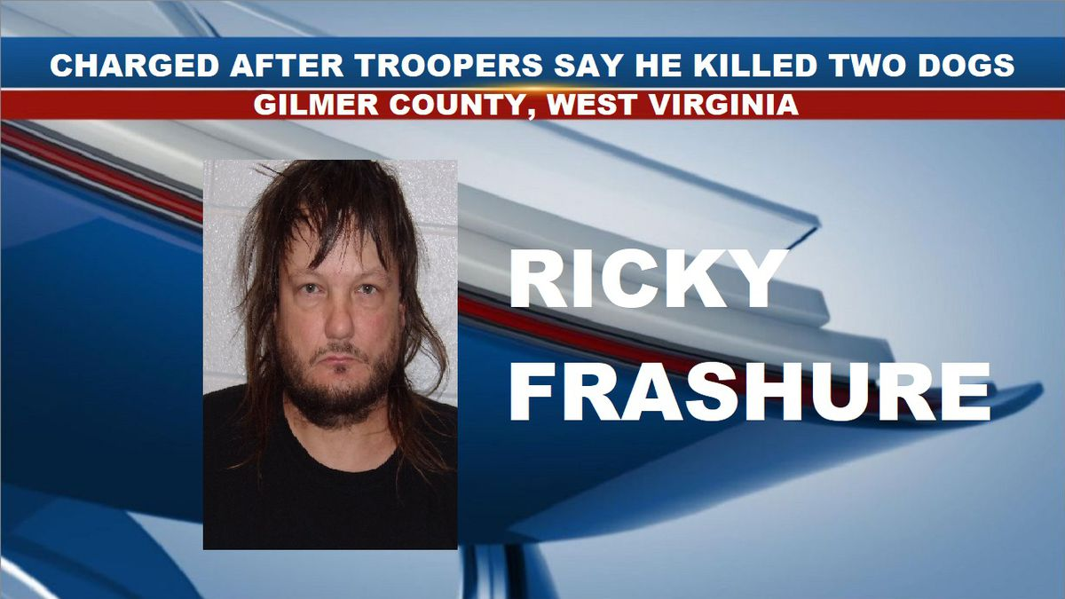 Ricky Frashure was arrested and charged with one count of maiming animals and one count of prohibited person in possession of firearm. (Source: Central Regional Jail)