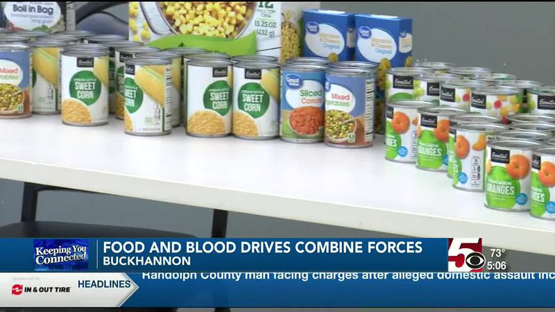 Food and blood drives combine forces in Buckhannon