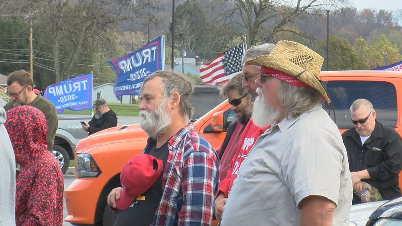 Community members gathered in our area for two President Trump rallies.