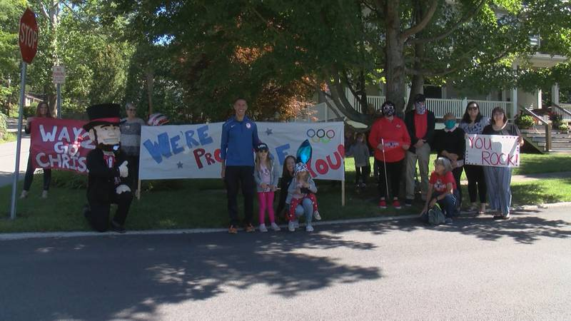 paralympian celebrated in community