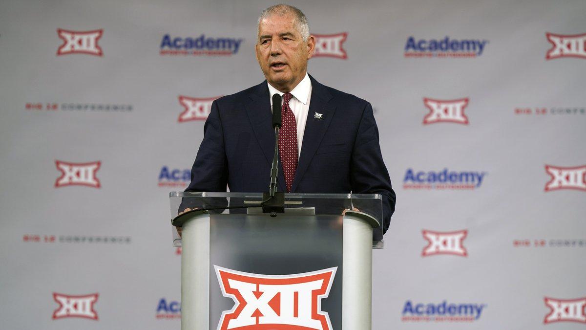 Big 12 commissioner Bob Bowlsby speaks during NCAA college football Big 12 media days...