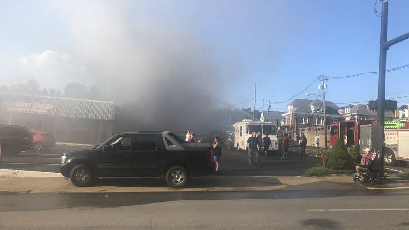 Multiple agencies respond to a structure fire in Clarksburg